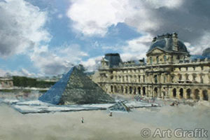 the louvre museum painting, canvas