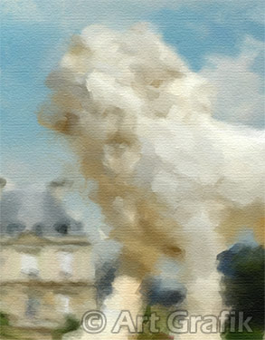 A STROLL THROUGH LUXEMBOURG PARK, paris paintings, canvas, limited edition, france
