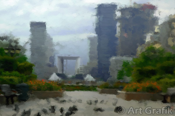 LA DÉFENSE, art canvas, painting, limited edition, signed
