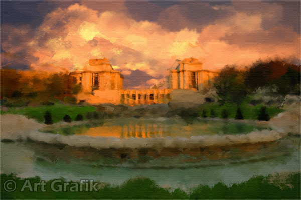 TROCADERO SUNSET, art canvas, painting, limited edition, signed