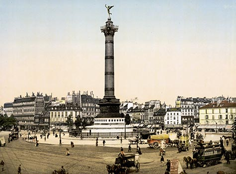 Place de la Bastille, square, bastille, french revolution, , paris