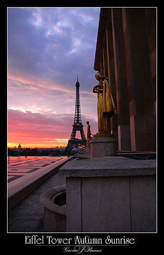 Eiffel Tower, Autumn Sunrise, paris photos, photography, france, city, capital